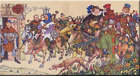 chaucers irony 'the canterbury tales' by geoffrey chaucer (c1345-1400) was enormously popular in medieval england, with over 80 copies in existence from the 1500s.